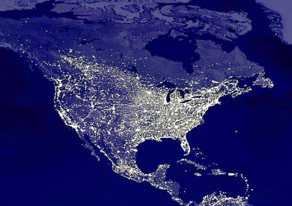 Exporting KML To Google Earth Eastern US Imagery Satellite - Satellite map of us at night